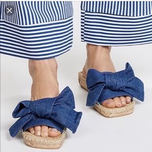 Jeffrey Campbell Estrela Denim Slide Sandals